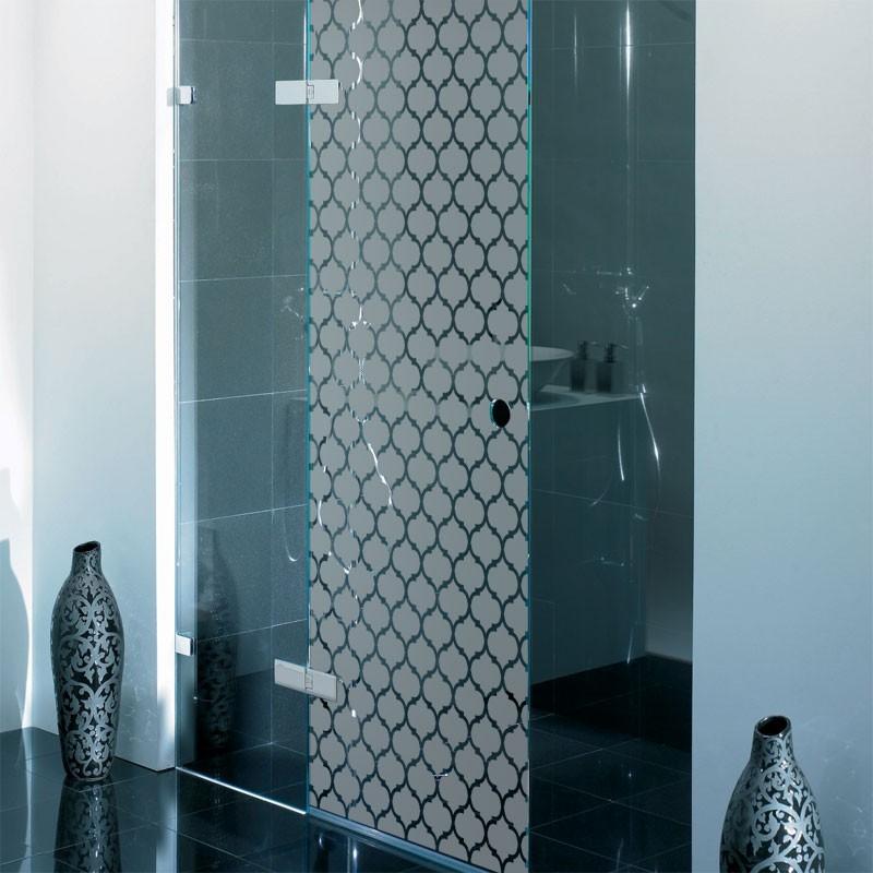 sticker paroi de douche maille baroque film occultant. Black Bedroom Furniture Sets. Home Design Ideas