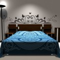 Sticker Tête de lit Art Déco et Papillons Stickers Têtes de Lit