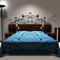 Sticker Tête de lit Art Déco et Papillons