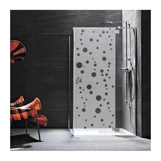 sticker paroi de douche bulles d coration pop pour vitre. Black Bedroom Furniture Sets. Home Design Ideas