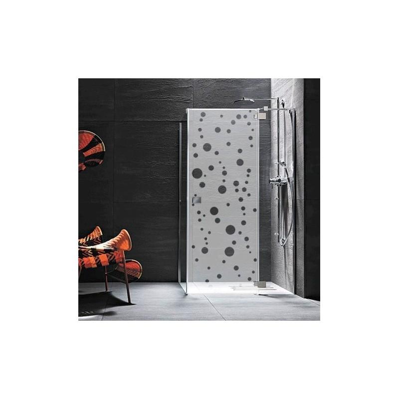 Sticker paroi de douche bulles d coration pop pour vitre for Sticker douche salle de bain