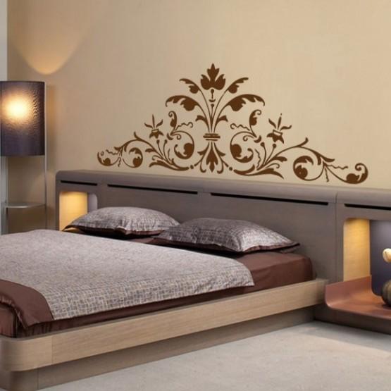 sticker t te de lit roccoco d coration murale baroque et contemporaine gali art. Black Bedroom Furniture Sets. Home Design Ideas