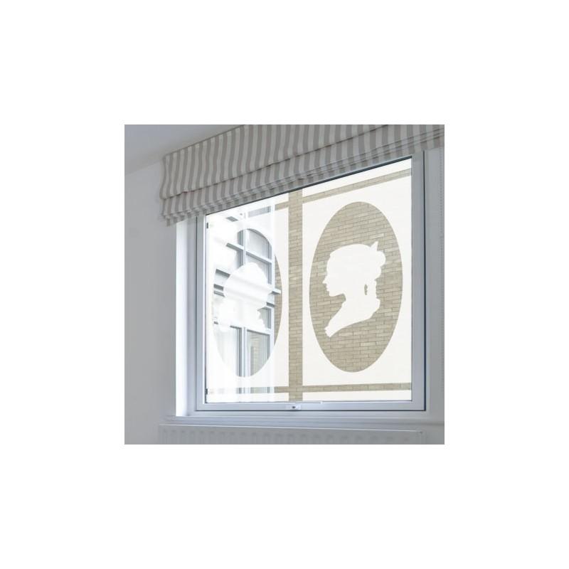 Sticker occulatnt motif cam e film adh sif pour vitre - Stickers fenetre occultant ...