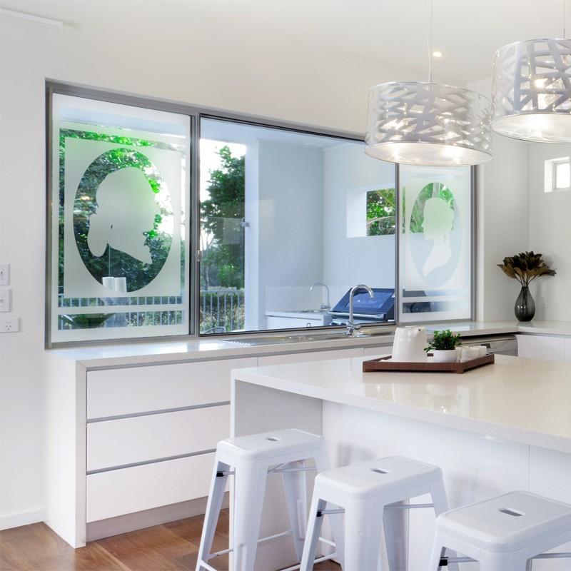 sticker occulatnt motif cam e film adh sif pour vitre brise vue. Black Bedroom Furniture Sets. Home Design Ideas