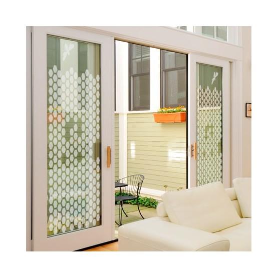 sticker occultant d coratif ruche adh sif depoli pour vitre. Black Bedroom Furniture Sets. Home Design Ideas