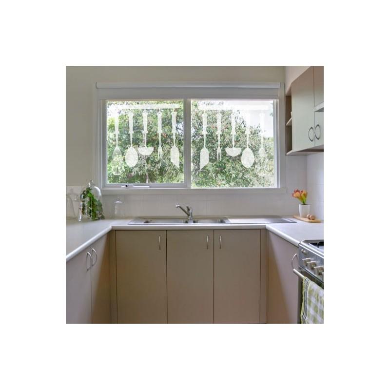 stickers d poli l ments cuisine d coration vitre et miroir porte ustensiles de cuisine. Black Bedroom Furniture Sets. Home Design Ideas