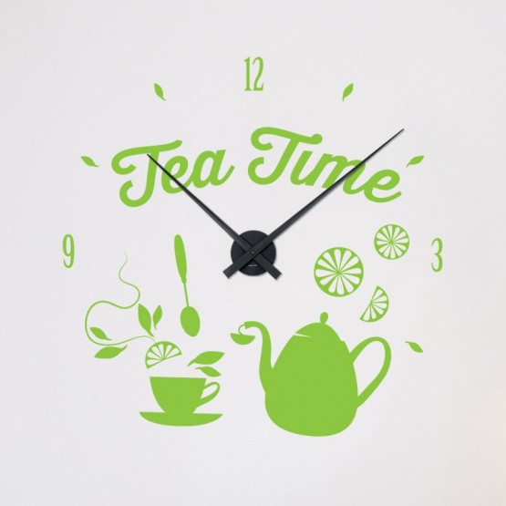 Sticker Horloge Tea Time Stickers Horloge Gali Art