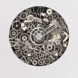 Sticker Horloge Engrenages