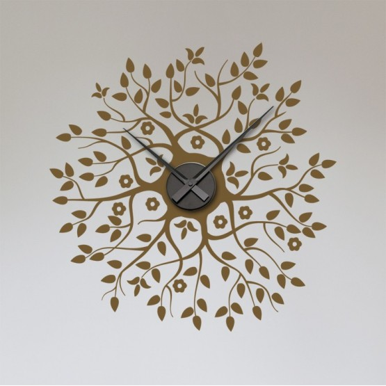 Sticker Horloge en Fleur Stickers Horloge Gali Art