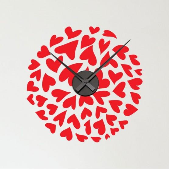 Horloge Sticker Coeur Stickers Horloge Gali Art