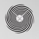 Sticker Horloge Spirale Hypnotique