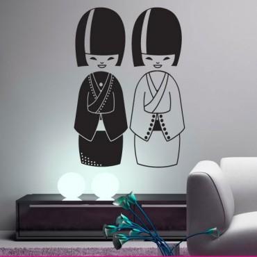 Stickers Kokeshi Ying & Yang