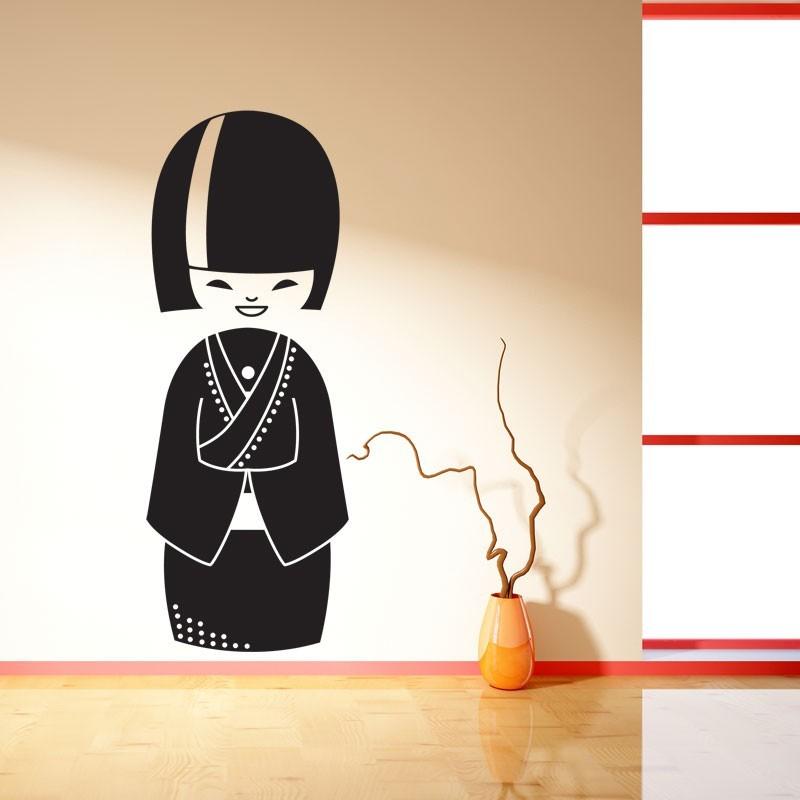 Sticker kokeshi japonaise g ante poup e japonaise pour for Stickers kokeshi