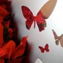 Kit de 20 Stickers Papillons Effet Miroir