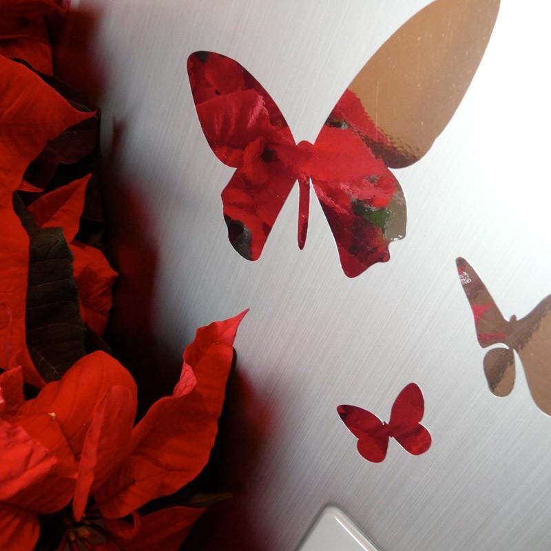 stickers papillons design chrome effet miroir decoration. Black Bedroom Furniture Sets. Home Design Ideas