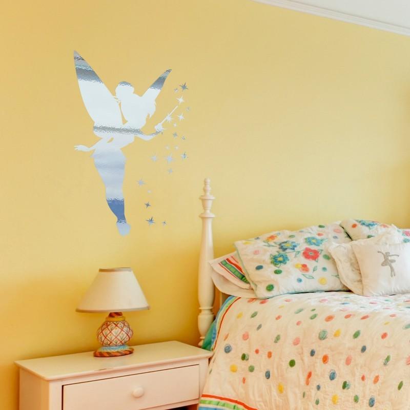 stickers f e effet miroir d coration f e pour chambre d. Black Bedroom Furniture Sets. Home Design Ideas