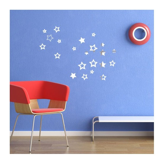 Stickers toiles effet miroir d coration murale brillante for Effet miroir photo