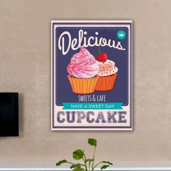 Tableau Delicious Cupcake Tableaux Vintage Gali Art