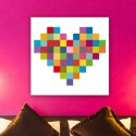 tableau coeur color d coration murale pixel art. Black Bedroom Furniture Sets. Home Design Ideas