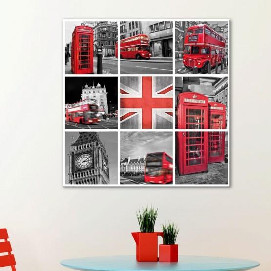 Tableau Londres en Cubes Tableaux Urbain