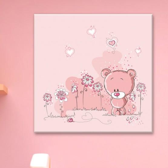 Tableau Ourson Rose Tableaux Enfant Gali Art
