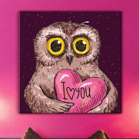 Tableau Chouette in Love