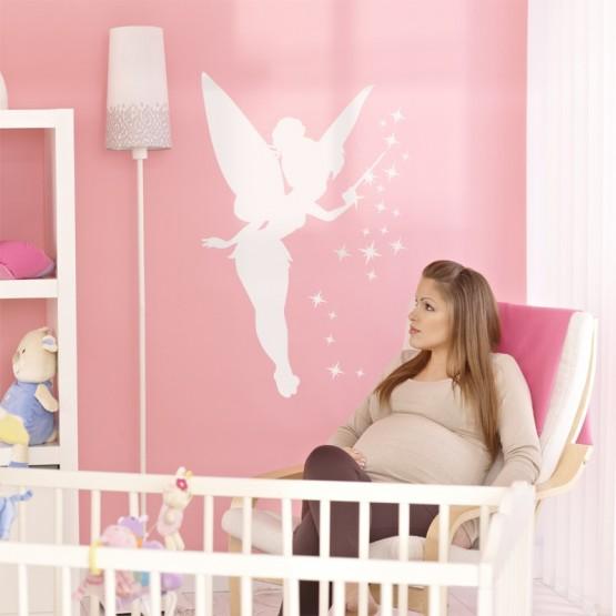 sticker f e d coration f e clochette pour chambre de b b. Black Bedroom Furniture Sets. Home Design Ideas