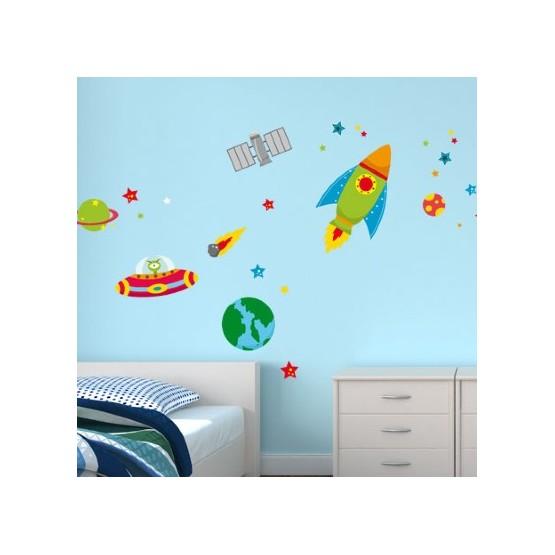 Stickers Enfant Martien dans l'espace