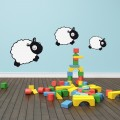 Stickers Famille Moutons