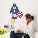 Sticker Super Héros Capitaine