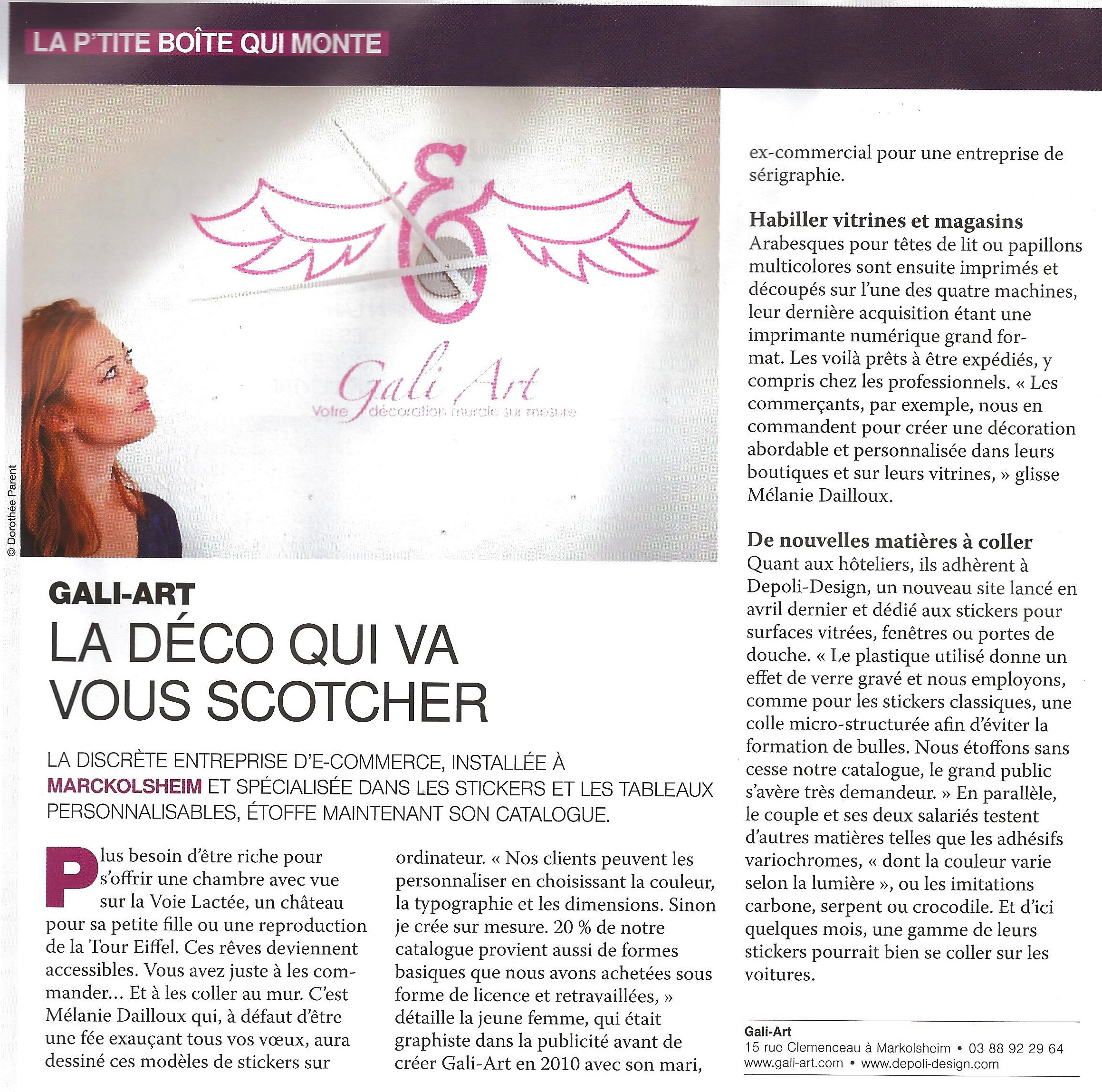 Gali Art dans le point Eco