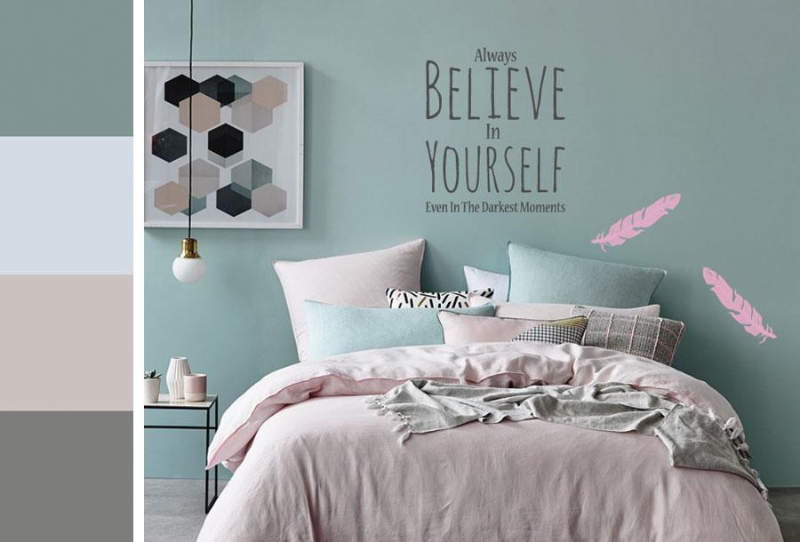 Chambre couleur tendance pastel