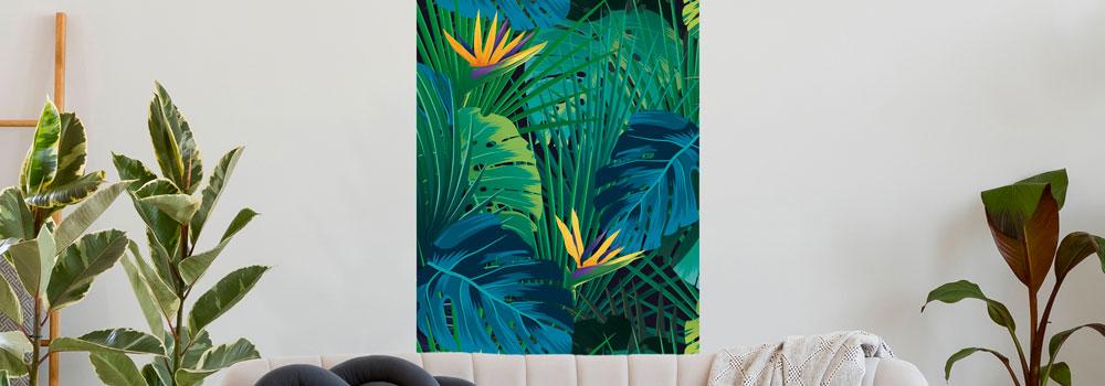 Lès decoratif imprimé - Décor vertical
