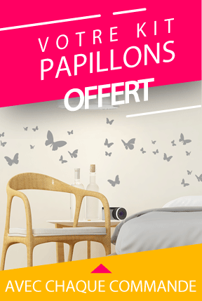 Kit de stickers papillon offert
