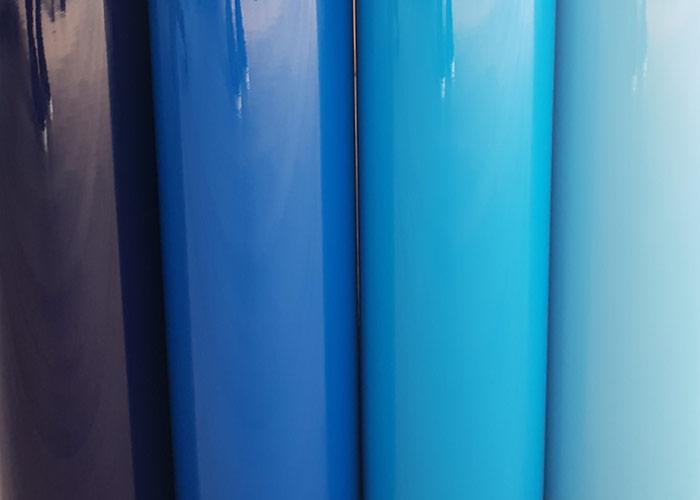 Les stickers bleu