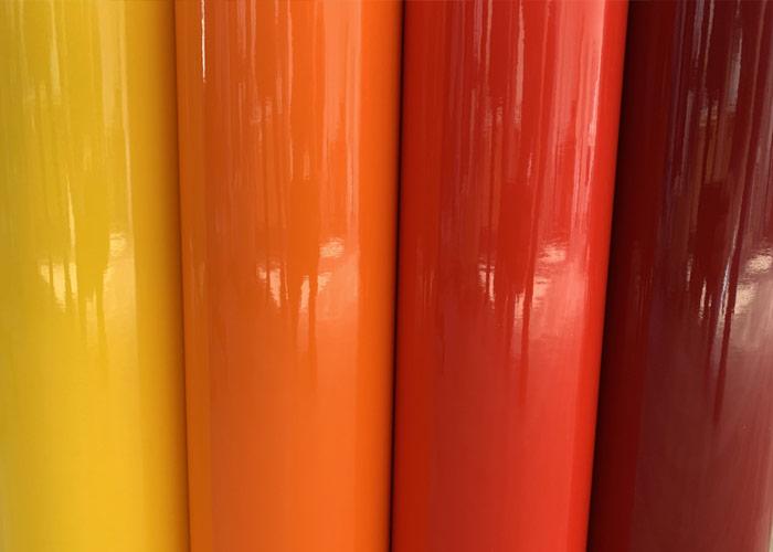 Les stickers jaune et rouge