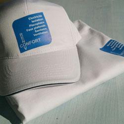 Marquage t-shirt et casquette couleur Gali Art com