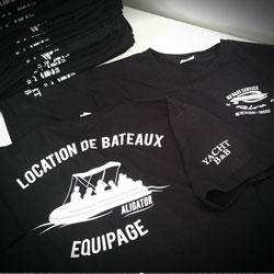 Flocage dos T-shirt coton Gali Art com