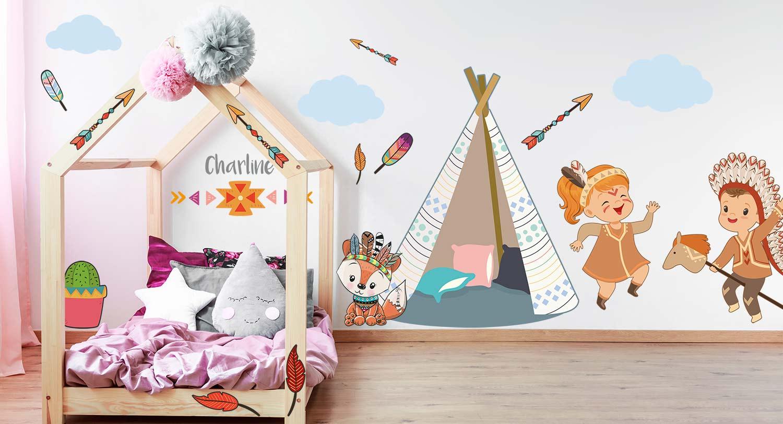 Décoration thème indien pour chambre d'enfant