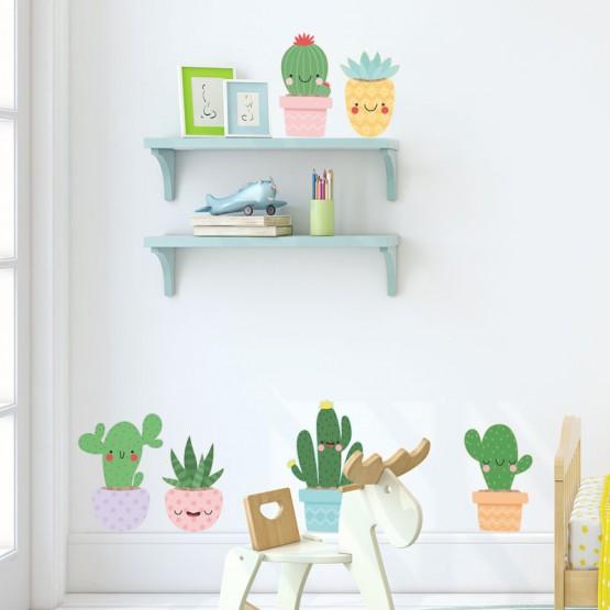 Stickers muraux cactus décoration chambre enfant