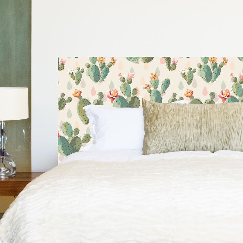 Tête de lit cactus imprimée