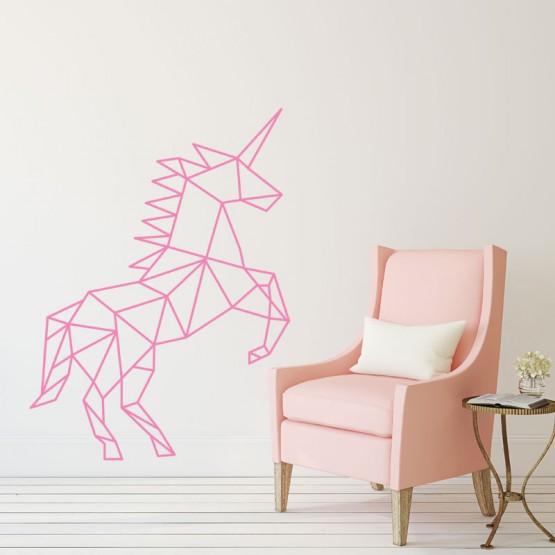 Stickers mural licorne 3d