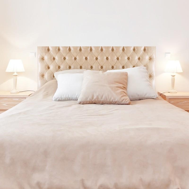 Tête de lit capitonné autocollante