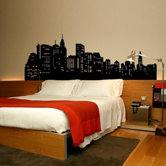 Sticker mural New York skyline - Gali Art