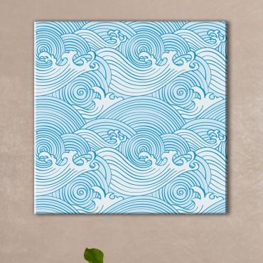 Tableau zen vague bleu