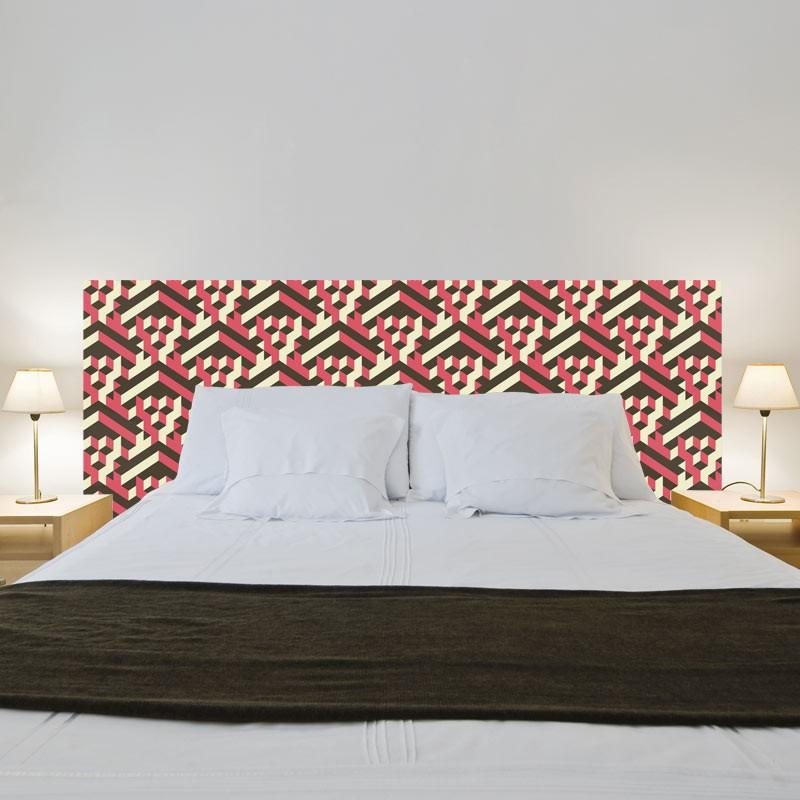 Sticker tête de lit géométrique