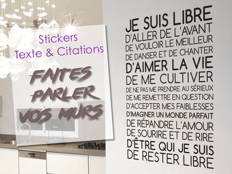Stickers muraux citation